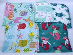 1 Ply Printed Flannel Washable, Mermaids and Friends -Set Na
