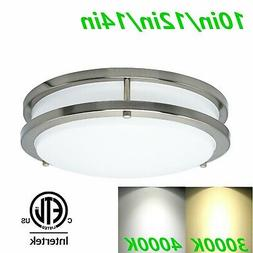 MingBright 10''/12''/14'' Dimmable LED Flush Mount Ceiling L