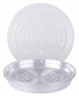 10 Pack Clear Round Vinyl Plant Saucer / 10 Inch / 12 Inch /