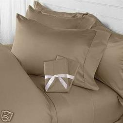 1000 TC Egyptian Cotton 8,10,12,15 Inch Deep Pocket Taupe So