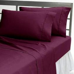 "1000 TC Egyptian Cotton 8,10,12,15 Inch Deep Pocket ""Wine"" S"