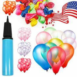 100pcs 12 Inch Colorful Latex Balloon Festival Decor Party W