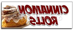 "12"" CINNAMON ROLLS DECAL sticker fresh baked bakery still wa"
