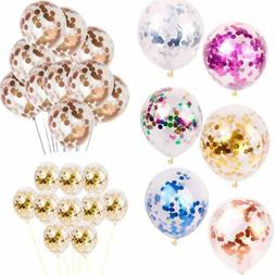 12 inch 10color foil confetti latex balloons helium wedding