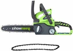 Greenworks 12-Inch 40V Cordless Chainsaw with Extra Chain