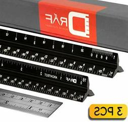 12-Inch Architectural Scale Ruler Set  | Laser-Etched Alumin