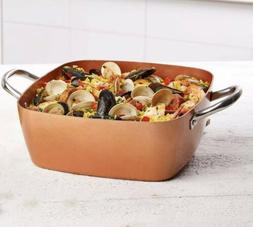 Copper Chef 12 Inch Casserole Pan Set - 2 Piece Deep Square