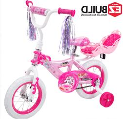 12 Inch Disney Princess Pink Bikes for Girls 7 Year Old Kids