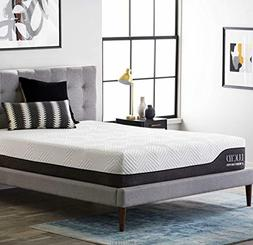LUCID 12 Inch Twin XL Hybrid Mattress - Bamboo Charcoal and