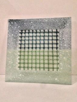 12 INCH GLASS SQUARE SHAPE SERVING PLATTER BY ALCO INDUSTRIE