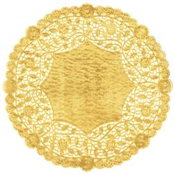 12 inch Gold Foil Decorative Tableware Round Paper Lace Doil
