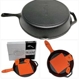 12 Inch Pre Seasoned Cast Iron Skillet Classic Frying Pan wi
