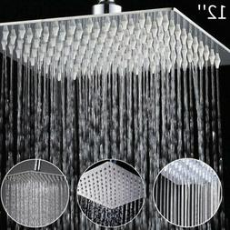 "12"" inch Stainless Steel Square Rainfall Shower Bathroom Sho"