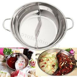 12 Inch Stainless Steel Twin Hot Pot Cookware Shabu Shabu In