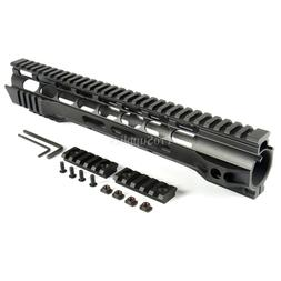 "12"" Inch Super Slim Light M-LOK Aluminum Handguard Nut & QD"