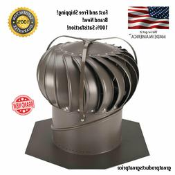 12 Inch Wind Turbine Weathered Bronze Aluminum Externally Br