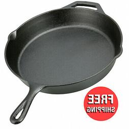 12 inches Cast Iron Skillet Vintage Pan Seasoned With Handle