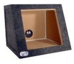 "12"" Single Subwoofer box Sealed 1 inch MDF Kicker Square .93"