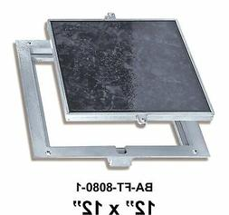 12 x 12 Inch Removeable Floor Door 1 Recess for Ceramic Tile
