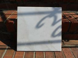 "12"" x 12"" White Polished Marble Tile 5/16 inches - Cream, Ta"