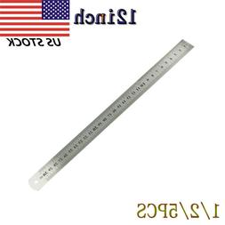 12inch / 30 cm Stainless Steel Metal Straight Ruler Precisio