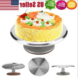12inch Aluminum Cake Turntable Rotating Decorating Stand Pas