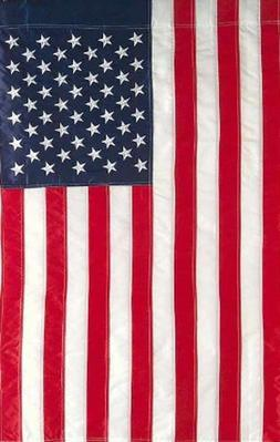 G128 - 12x18 inch USA Garden Flag with Embroidered Stars and