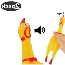 2 Categories Pack Large Screaming Chicken Toy Rubber Squawki