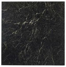 20 Tiles Marble Black 12 Inch Vinyl Tile Peel & Stick High G