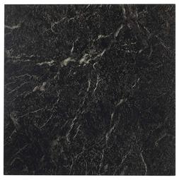 20-Tiles Marble Black 12-Inch Vinyl Tile Peel & Stick High G