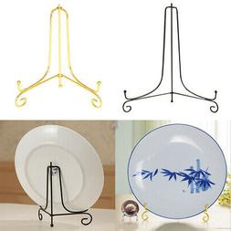 "4''-12"" Iron Stand Easel Art Display Bowl Plate Display Rack"