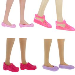 4 Pairs 1:6 Doll Shoes Flat Sandal Flats Accessories For 12