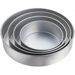 "4-Tier Deep Cake Pan Set-Round 8"", 10"", 12"", 14"