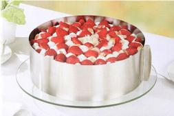 6-12 inch Cake Ring Stainless Steel Size Adjustable round Ba