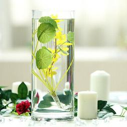 6 pcs 12-Inch tall Clear Glass Cylinder Centerpieces Vases W
