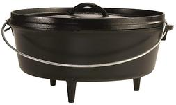 Lodge 6 Quart Camp Dutch Oven. 12 Inch Pre Seasoned Cast Iro