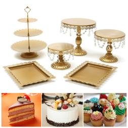 6pcs Cake Stand Set Round Cupcake Holder Wedding Dessert Dis
