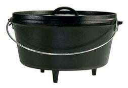 Lodge 8 Quart Camp Dutch Oven. 12 Inch Pre Seasoned Cast Iro