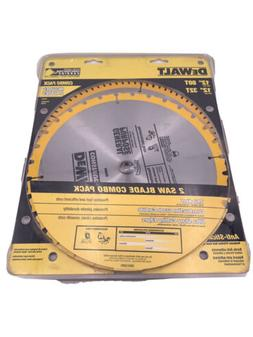 DEWALT 80 Tooth and 32T Thin Kerf 12inch Crosscutting Miter
