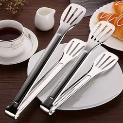 """9""""/12"""" Stainless Steel Cooking Serving BBQ Buffet Food Tongs"""