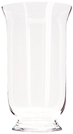Clear Good Quality Hurricane Glass Vase / Candle Holder. Ope