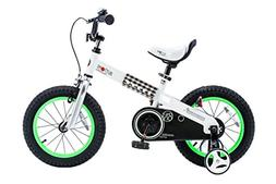 "RoyalBaby CubeTube Buttons 12""  Bicycle for Kids, Green"