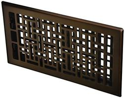 Decor Grates AJH612-RB Oriental Floor Register, 6-Inch by 12