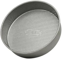 USA Pan Aluminized Steel 8 Inch Round Layer Cake Pan with Am