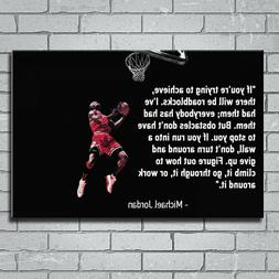 Art Prints Silk POSTER Michael Jordan - Don't Give Up Motiva