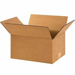 "BOX USA B1296100PK Corrugated Boxes, 12"" L x 9"" W x 6"" H, Kr"