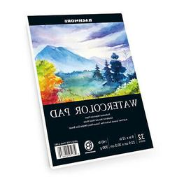 """Bachmore Watercolor Pad 9X12"""" Inch , 32 Sheets of TOP Glue B"""