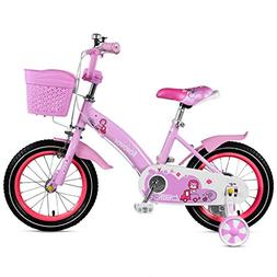 Fenfen Children's Bicycle 2-4 Years Girl Pedal Bicycle 12 In