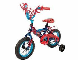 "12"" Marvel Spider-Man Boys' Bike by Huffy Blue/Red"