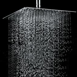 Big 12 Inch Square Stainless Steel Shower Head - Rain Style